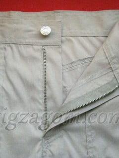 Как вшить молнию в брюки. Обработка гульфика
