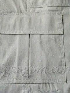 Накладной карман со встречной складкой