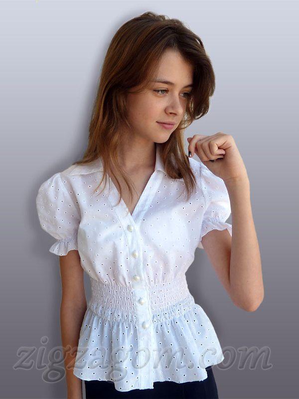 627449df057 Школьная блузка своими руками. Основы моделирования выкройки — Зигзагом