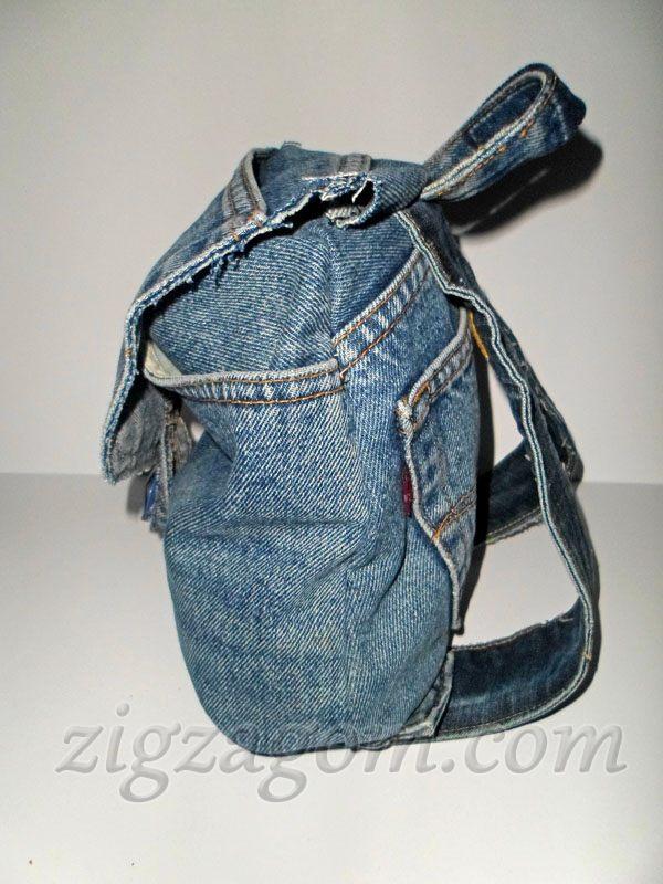 1b2982f3ad4a Рюкзак из старых джинсов — Зигзагом