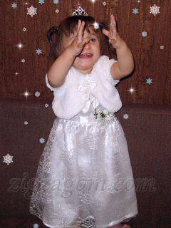 Новогодний костюм Снежинки своими руками