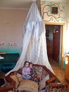 Домик для детей своими руками. Шатер шамаханской царицы