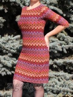 Трикотажное платье своими руками