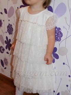 Праздничное платье для девочки своими руками