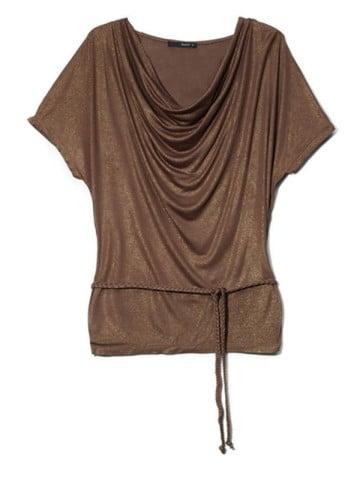 Топы и блузки с коротким рукавом с такой драпировкой качели