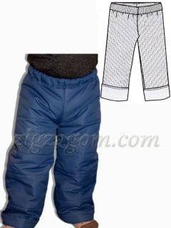 Выкройка брюк на ребенка 1,5-2 года