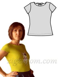 Выкройка женской футболки с оригинальной спинкой