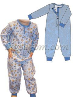 Выкройка пижамы-комбинезона р.92