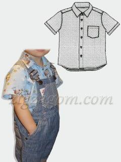 Выкройка рубашки для мальчика на 1,5-2 года